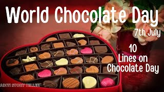 World Chocolate Day 2021|10 lines on world chocolate day |10 lines on chocolate | Essay on Chocolate
