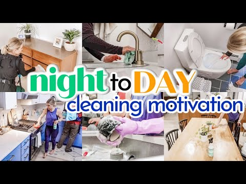 MAJOR NIGHT TO DAY CLEANING MOTIVATION | CLEANING OUR FIXER UPPER | CLEAN WITH ME 2021 - Denise Bangiyev
