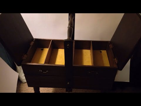 ANTIQUE SEWING BOX REPAIRING SCRATCHES ON WOOD FINISH