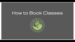 How to book Rooted Studio classes
