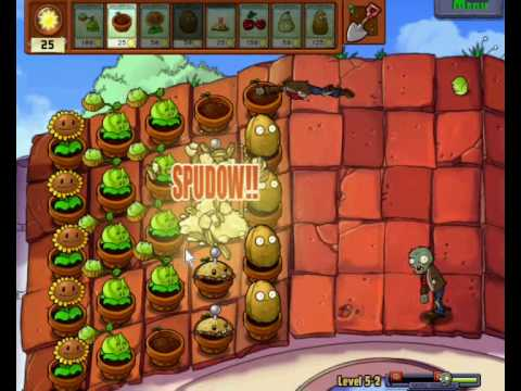 Walkthrough: Plants VS Zombies Level 5-2