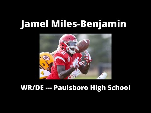Jamel Miles-Benjamin --- WR/DE --- Paulsboro High School