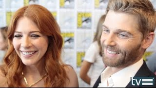 Rachelle Lefevre and Mike Vogel Interview - Under the Dome (CBS) Season 2