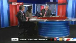 UKIP Nigel Farage and Labour Caroline Flint on Sky News - April 2010