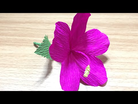 DIY | How to make beautiful origami hibiscus paper flower | DIY-Beauty Of Paper