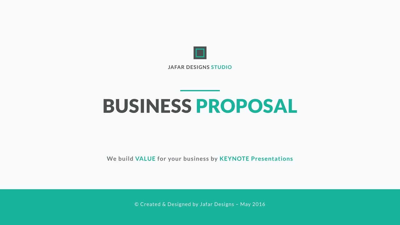 business proposal template youtube