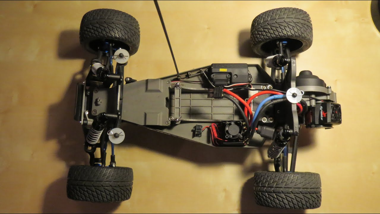 Custom Upgraded Traxxas Rustler RC Car