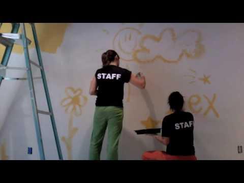 Como pintar una pared youtube - Paredes pintadas infantiles ...