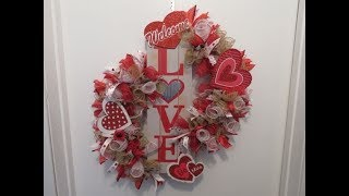Tricia's Creations: Valentine's Day Swag /Wreath