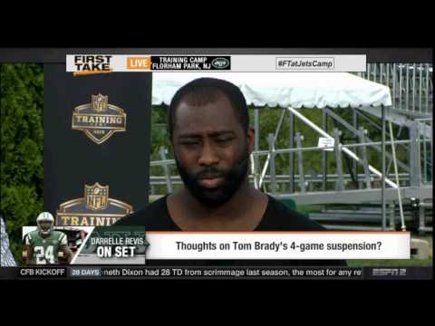 Official ESPN FIRST TAKE (8/6/2015) - Darrelle Revis, Brandon Marshall Do Battle At Camp