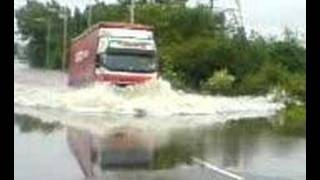 truck through flood