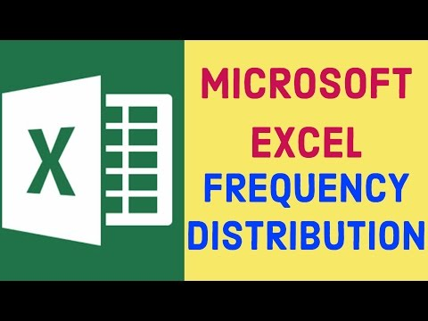 Frequency Distribution | Microsoft Excel
