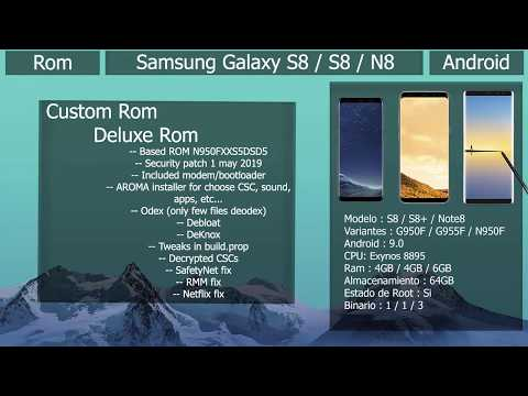 Rom Deluxe Rom V14 - Android 9.0 - Samsung Galaxy S8 / S8+ / N8