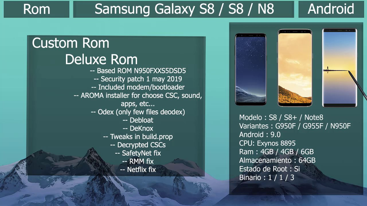 Rom Deluxe Rom V14 - Android 9 0 - Samsung Galaxy S8 / S8+ / N8 by  SebastianSNRL