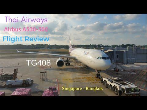 Thai Airways Airbus A330-300 | Flight Review | Economy Class | TG408 | Singapore to Bangkok