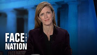 """Samantha Power on climate change: """"We've got to meet our commitments and then become much more am…"""