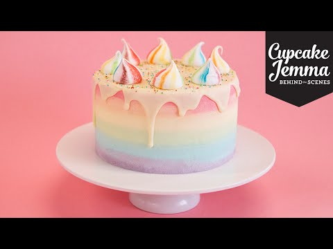 Save Behind the Scenes Making a Unicorn Cake | Cupcake Jemma Pics