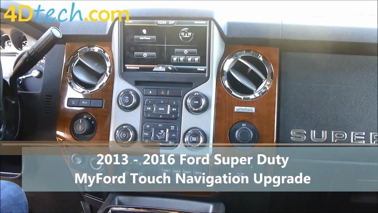 Add Factory Navigation to MyFord Touch | 2013 - 2016 Ford Super Duty