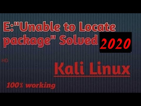 Kali Repository Issue fixed ||`E: Unable to locate package` error 100%  solved|||2019||