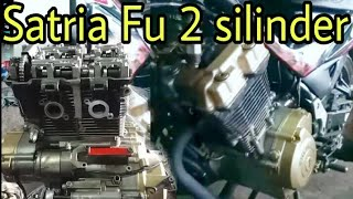 Download Video Suara mesin SATRIA FU 2 silinder 300cc  bikinan OM2S Tanggerang | SCREAMER engine MP3 3GP MP4