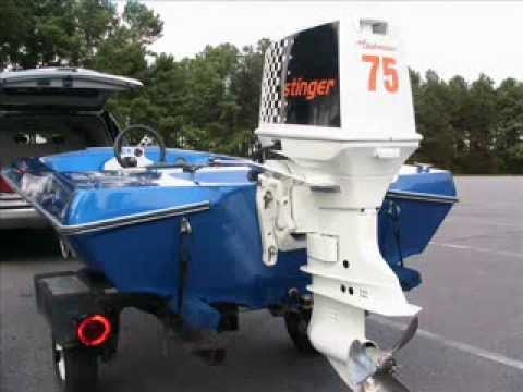 Check mate 14 39 w johnson 75hp stinger lake norman nc for 70 hp evinrude outboard motor for sale