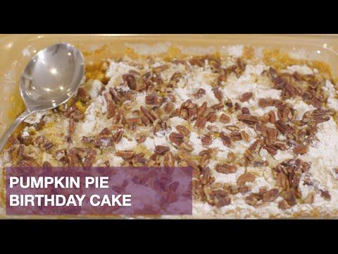 Pumpkin Pie Birthday Cake - YouTube