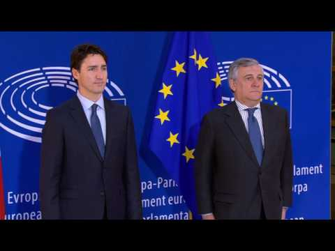 Arrival of Canadian Prime Minister #JustinTrudeau at European Parliament in Strasbourg