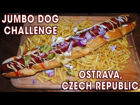 JUMBO HOT DOG CHALLENGE IN CZECH REPUBLIC!!