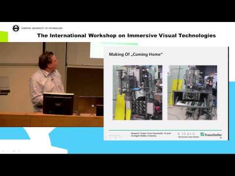 International Workshop on Immersive Visual Technologies, day 2