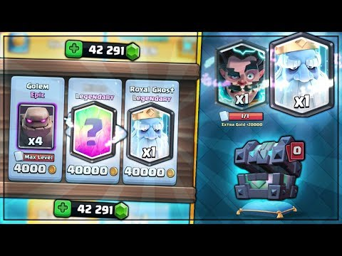 DOUBLE SHOP LEGENDARY! ROYAL GHOST LEGENDARY HUNT! | Clash Royale BIG LEGENDARY KINGS CHEST OPENING