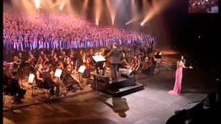 Don't cry for me Argentina - Tina Arena et les 2000 choristes - Amnéville (10 / 2011)