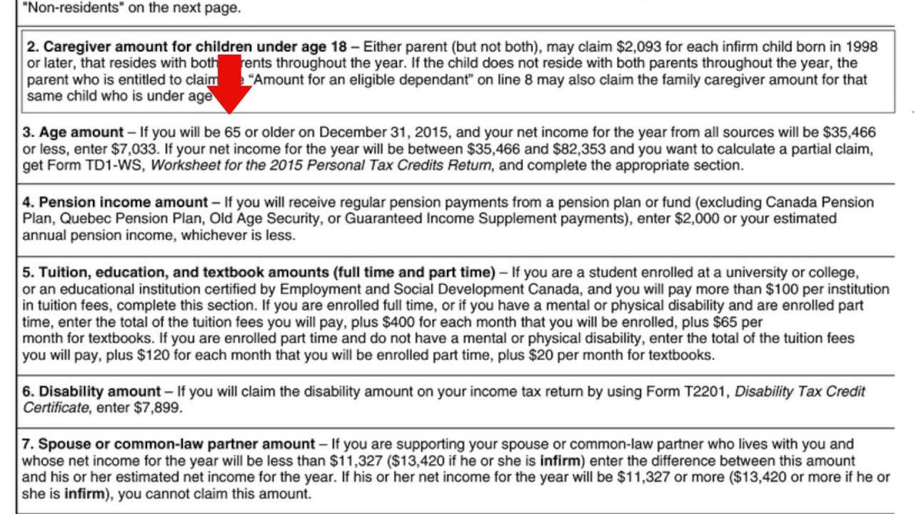 Td1 Federal Tax Form