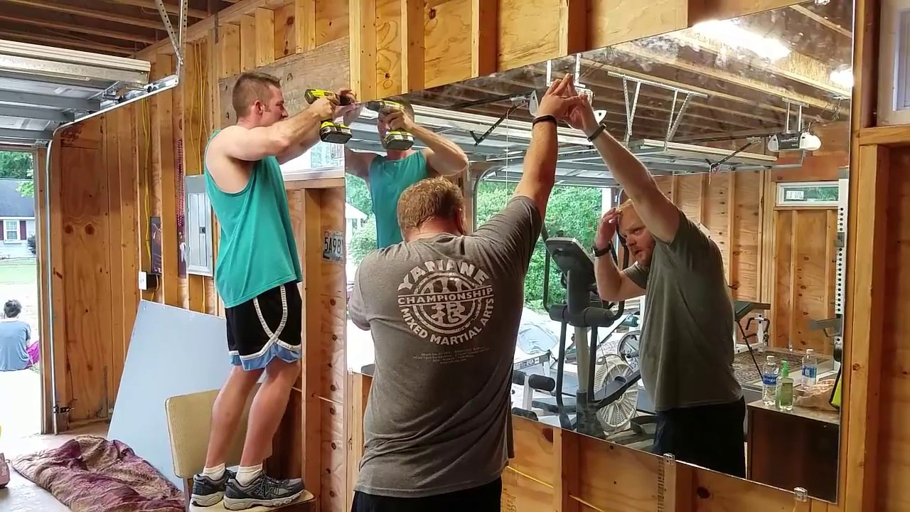 Garage Gym Mirrors And Installation