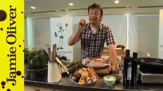 Jamie Oliver cooks steak with wild mushrooms at Google