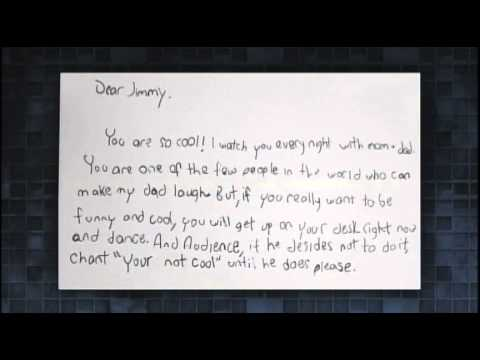Jimmy Fallon recieves kids' fan letters   Mar 4th, 2015   YouTube