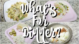 WHAT'S FOR DINNER | EASY DINNER RECIPES | WEEK OF MEALS | WORKING MOM WHATS FOR DINNER |COOK WITH ME