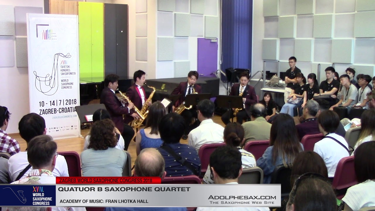 Chaconne from PArtita Nº2 by J S  Bach   Quatuor B Saxophone Quartet   XVIII World Sax Congress 2018