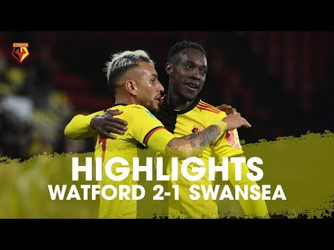 WELBECK'S FIRST WATFORD GOAL | WATFORD 2-1 SWANSEA HIGHLIGHTS