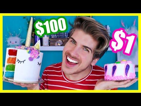 $1 CAKE VS. $100 CAKE!