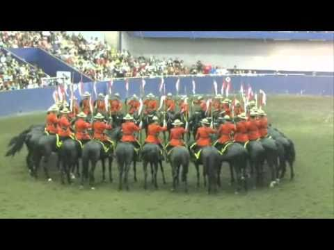 RCMP Musical Ride The Dome, Charge & Drills at PNE 2010 Vancouver