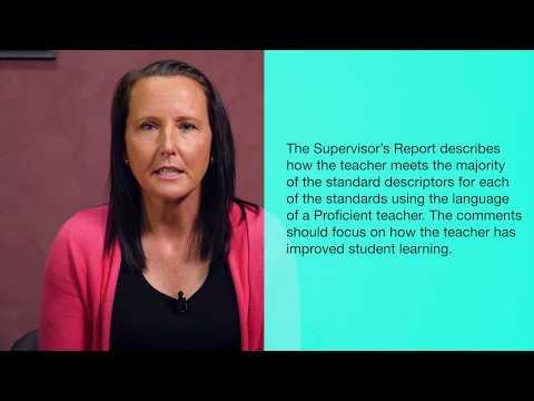 Teacher Evidence & Supervisors Reports