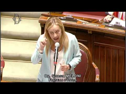 Una straordinaria Giorgia Meloni risponde a comunicazioni presidente Conte. Ascoltate e condividete
