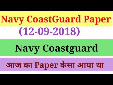 NAVY COASTGUARD Questions (12-09-2018) paper...