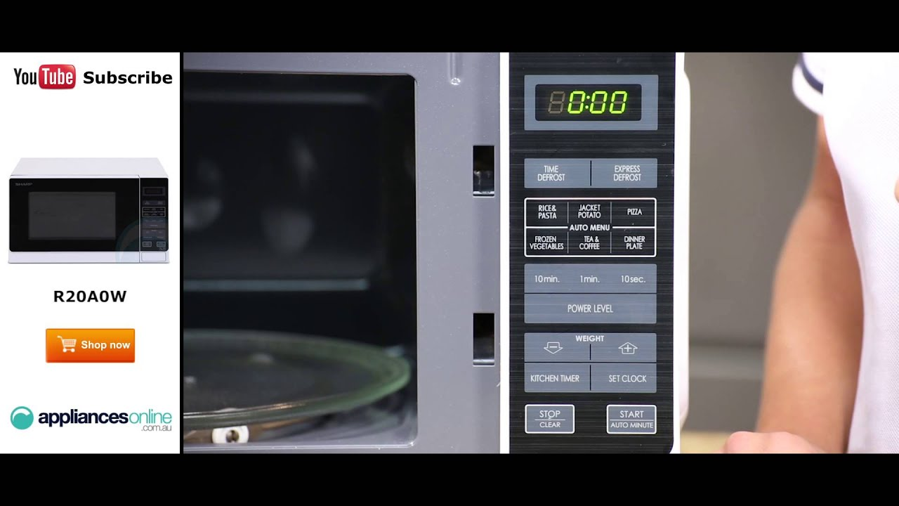 sharp compact microwave r20a0w reviewed by expert appliances online