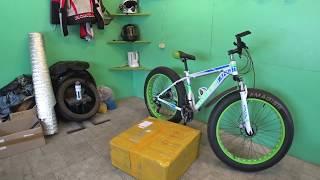 самый дешёвый электровелосипед  Fat Bike с двигателем-1500ватт* с нуля своими руками