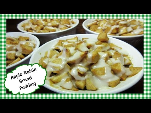 How To Make Apple Raisin Bread Pudding ~ Easy Bread Pudding Recipe