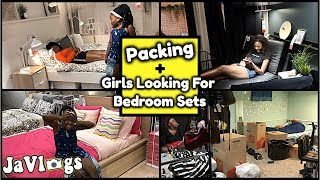 Packing For Florida + Yanna & Dejah Looking For A New Bedroom Set | Family vlogs | JaVlogs