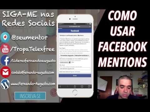Como Usar o Facebook Mentions