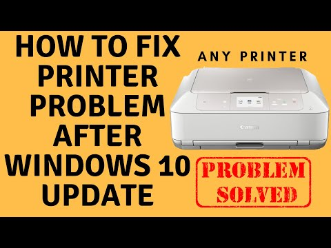 How To Fix Printer Problem After Windows 10 Update Youtube