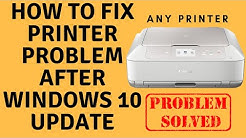 How to Fix Printer Problem After Windows 10 Update